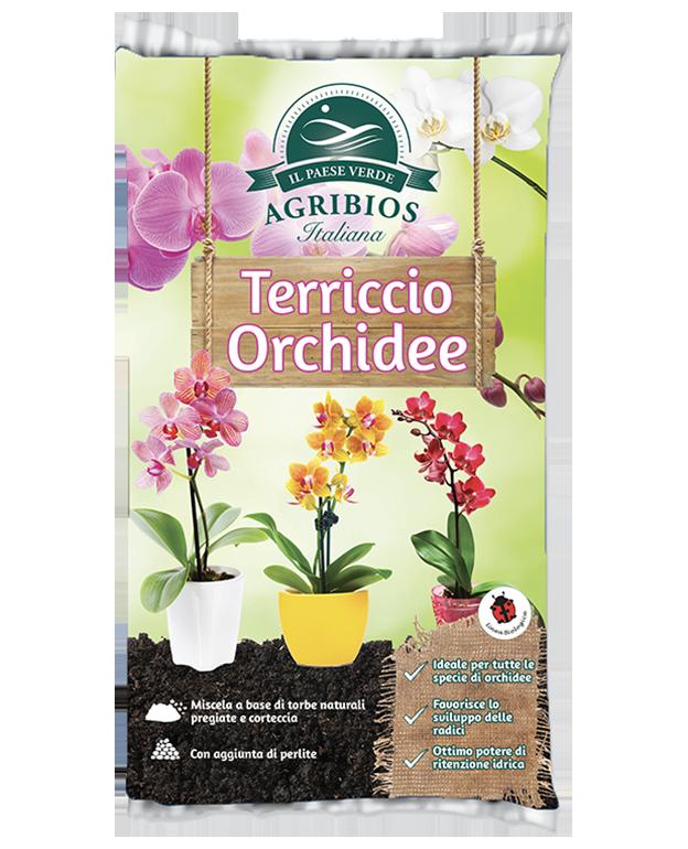 sacco di terriccio per orchidee de il paese verde