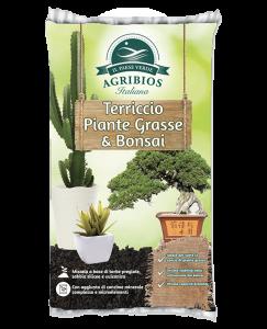 sacco di terriccio per piante grasse e bonsai de il paese verde